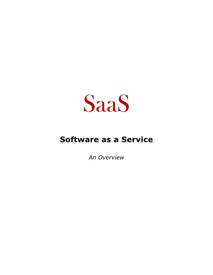 SaaS White Paper - An Overview