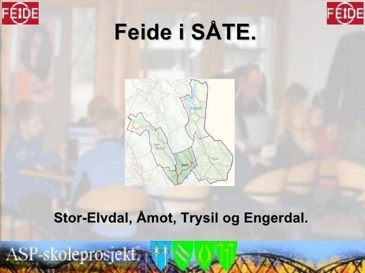 Feide i SÅTE. Stor-Elvdal, Åmot, Trysil og Engerdal.