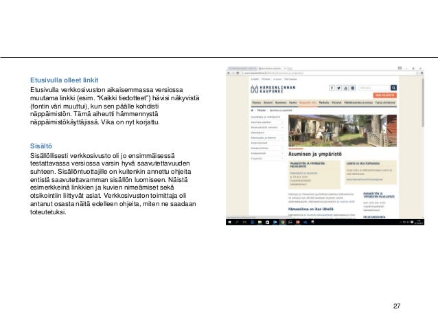 """27 A B A Etusivulla olleet linkit Etusivulla verkkosivuston aikaisemmassa versiossa muutama linkki (esim. """"Kaikki tiedotte..."""