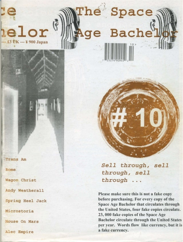 Space Age Bachelor magazine - issue 10