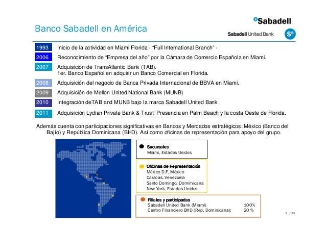 Soluciones bancarias en estados unidos for Sabadell cam oficinas