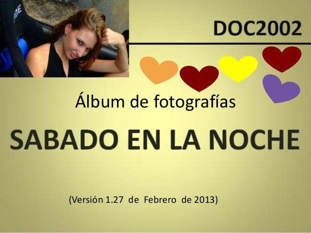 Álbum de fotografías(Versión 1.27 de Febrero de 2013)