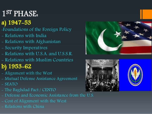 foreign policy of pakistan from 1947 Amongst the main policies of pakistan, foreign policy figures as a top priority for  the country since its simultaneous birth and independence in 1947, due to a set .