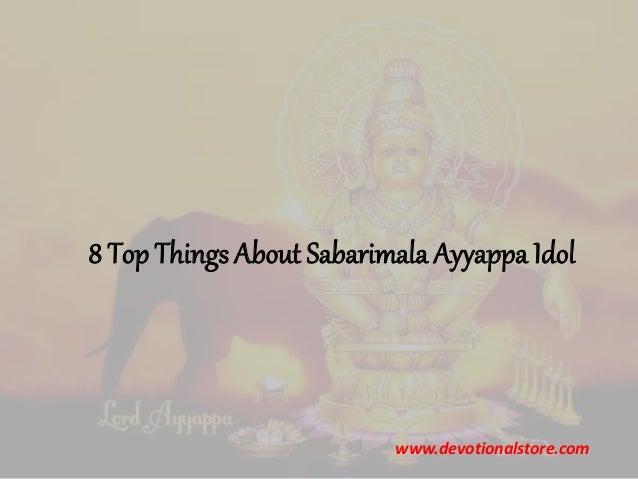 8 Top Things About Sabarimala Ayyappa Idol www.devotionalstore.com