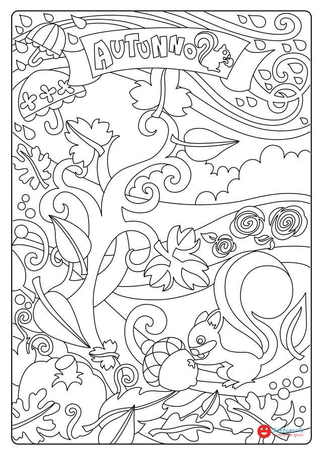 L Autunno Disegni Da Colorare Sabbiarelli