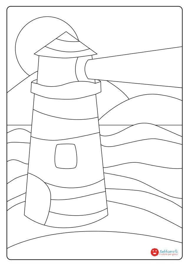 Il faro disegni da colorare sabbiarelli for Disegni pesciolini da colorare