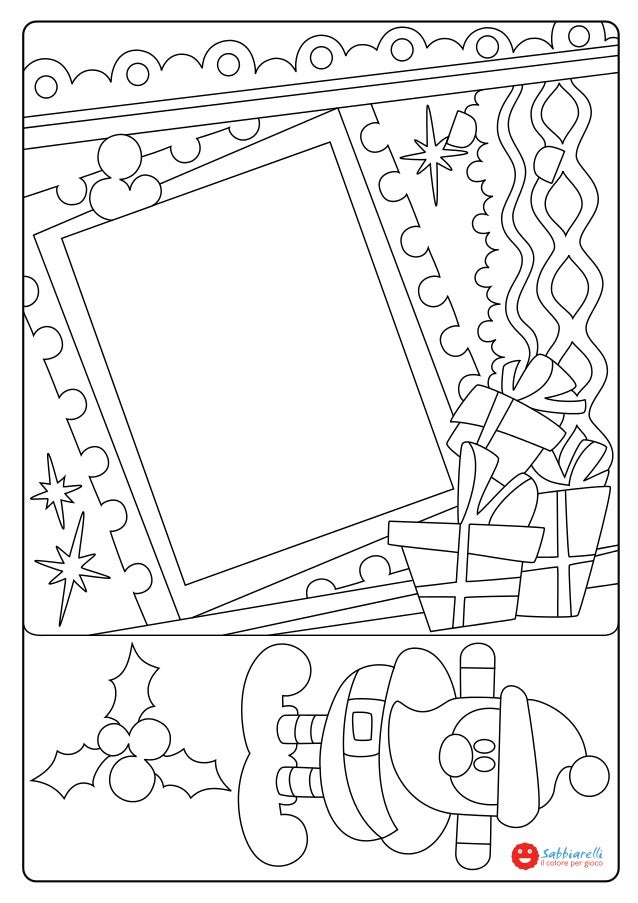 il portafoto di natale disegni da colorare sabbiarelli