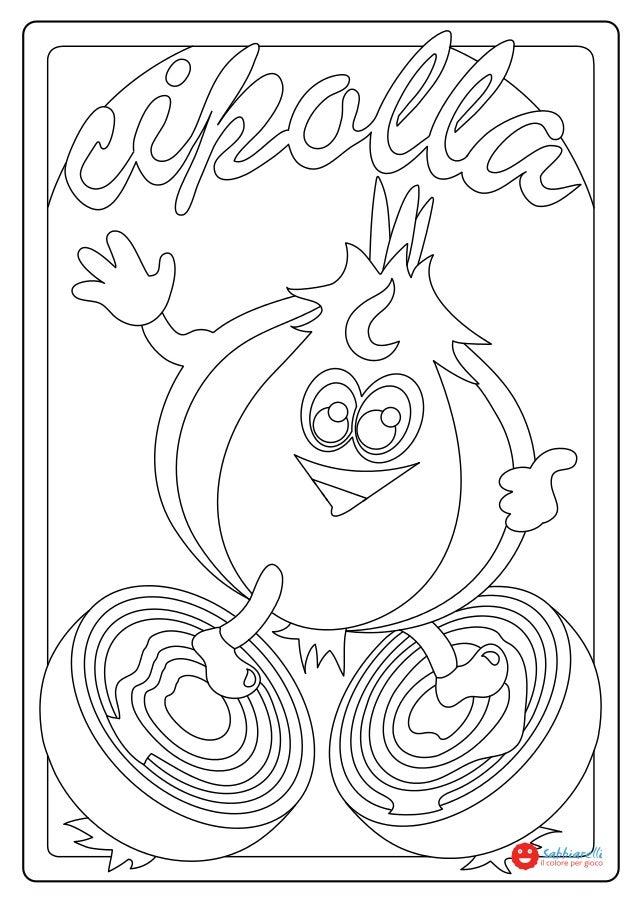 La cipolla disegni da colorare sabbiarelli for Disegni pesciolini da colorare