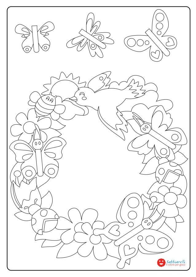 La Ghirlanda Di Primavera Disegni Da Colorare Sabbiarelli