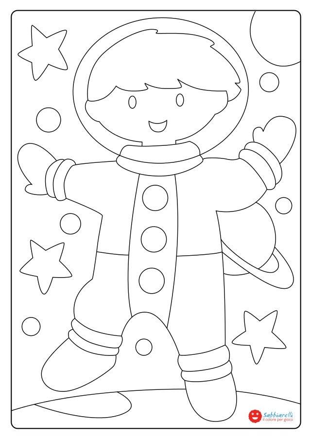 L 39 astronauta disegni da colorare sabbiarelli for Disegni da colorare ciliegie