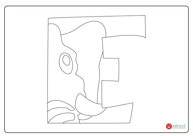 Lettera E Disegni Da Colorare Sabbiarelli