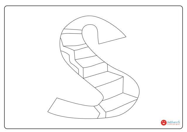 Lettera S Disegni Da Colorare Sabbiarelli