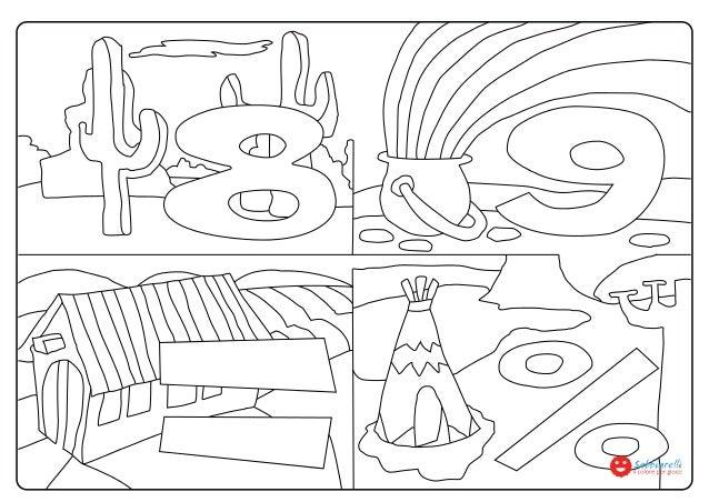 Numeri E Simboli 89 Disegni Da Colorare Sabbiarelli