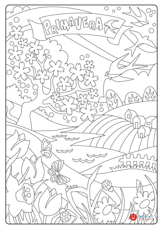 La primavera disegni da colorare sabbiarelli - Disegno finestra da colorare ...