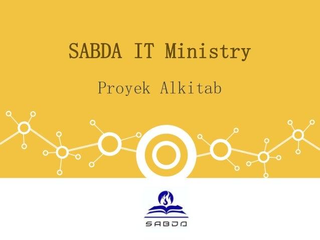 SABDA IT Ministry Proyek Alkitab