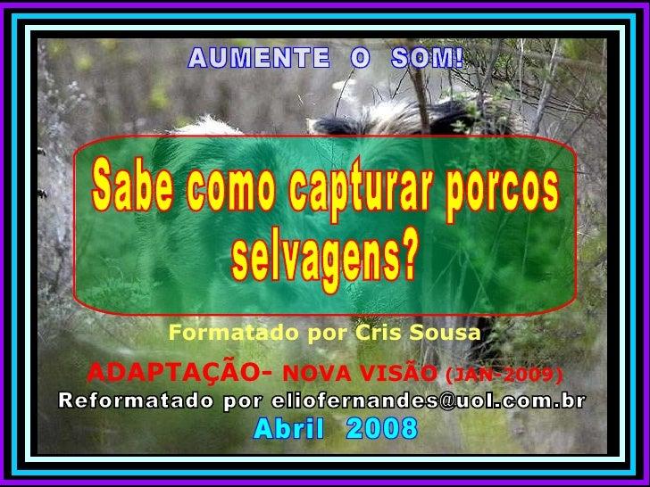 AUMENTE  O  SOM! Reformatado por eliofernandes@uol.com.br Abril  2008 Formatado por Cris Sousa ADAPTAÇÃO-  NOVA VISÃO  (JA...