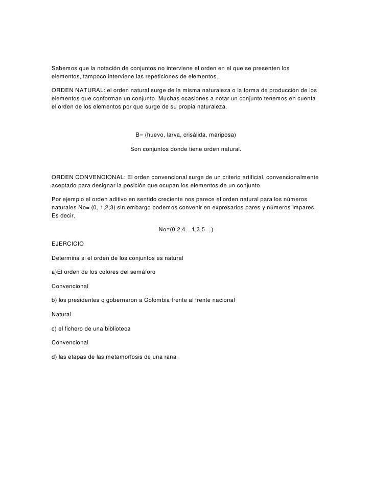 <br />Sabemos que la notación de conjuntos no interviene el orden en...