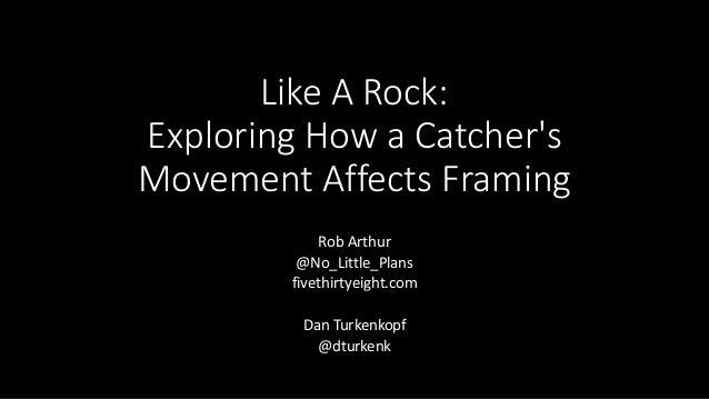 Like A Rock: Exploring How a Catcher's Movement Affects Framing Rob Arthur @No_Little_Plans fivethirtyeight.com Dan Turken...