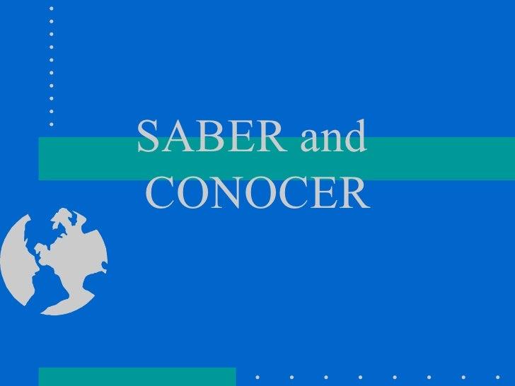 Sabervs Conocer