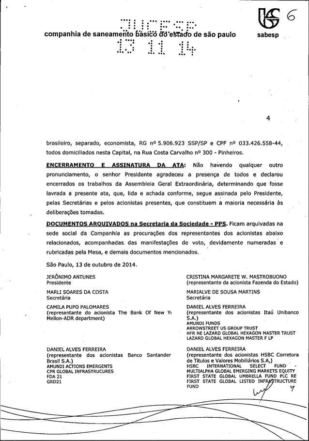 0000     O l z Ooo 00 o. . p  companhia de saneameíít bas ëó Êfcïesrååo de são paulo sabesp  brasileiro,  separado,  econo...