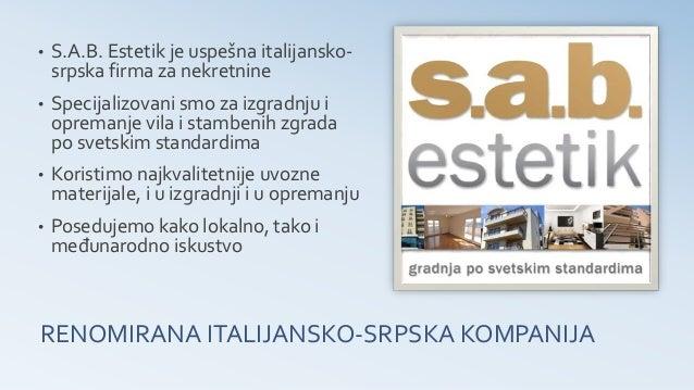 S.A.B. Estetik - Vaš lokalni partner za nekretnine Slide 2