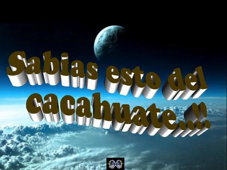 El cacahuate, un aliado en la lucha contra elcolesterolEl cacahuate es una semilla originaria deAmérica del sur.La palabra...