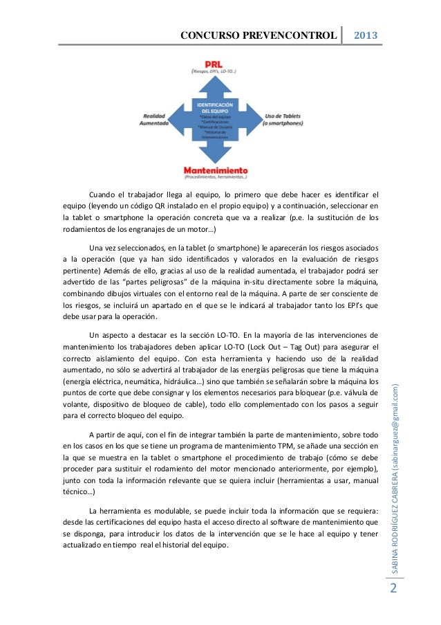 Herramienta para la Gestión Integrada en Tiempo Real de la PRL y el Mantenimiento en Máquinas y Equipos de Trabajo Slide 2