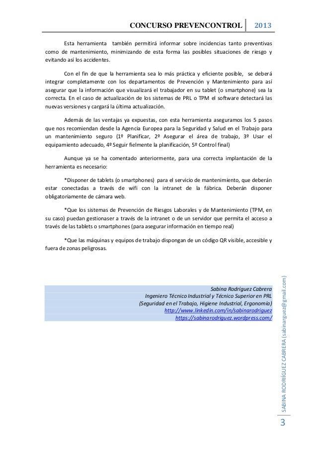 Herramienta para la Gestión Integrada en Tiempo Real de la PRL y el Mantenimiento en Máquinas y Equipos de Trabajo Slide 3