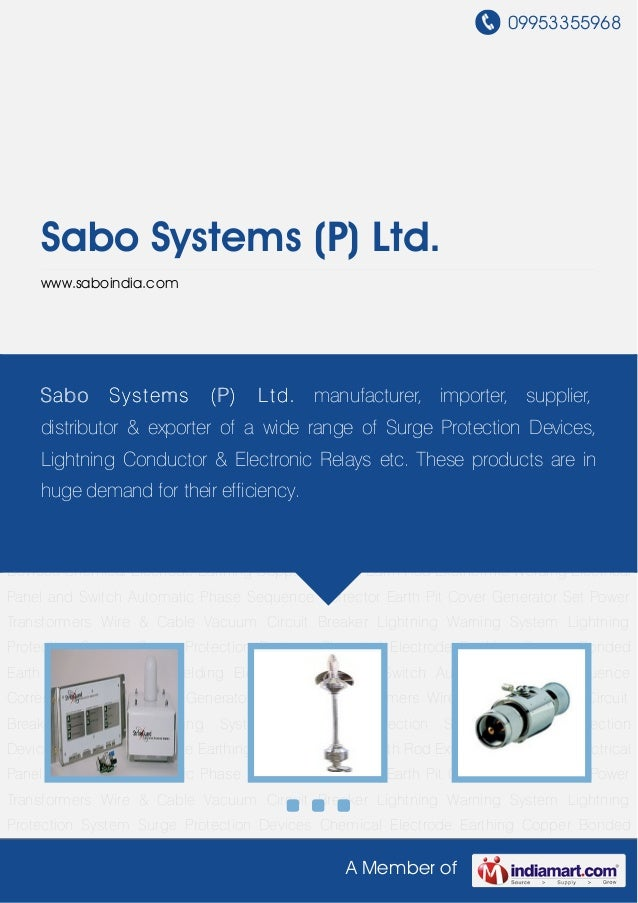 09953355968A Member ofSabo Systems (P) Ltd.www.saboindia.comLightning Warning System Lightning Protection System Surge Pro...