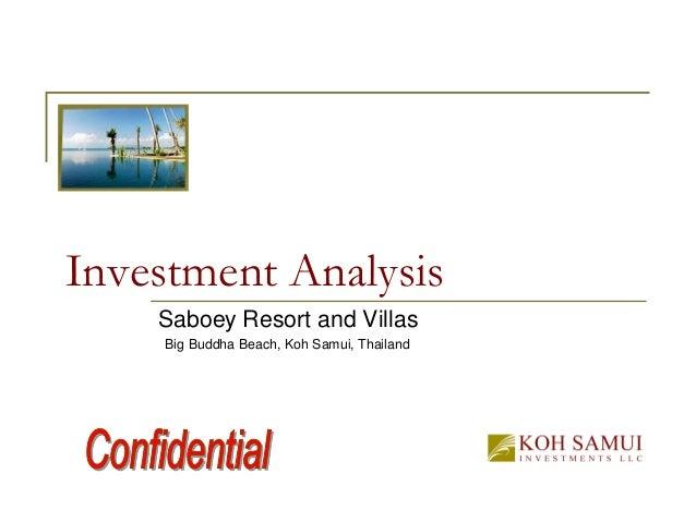 Investment Analysis Saboey Resort and Villas Big Buddha Beach, Koh Samui, Thailand