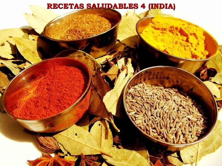RECETAS SALUDABLES 4 (INDIA)