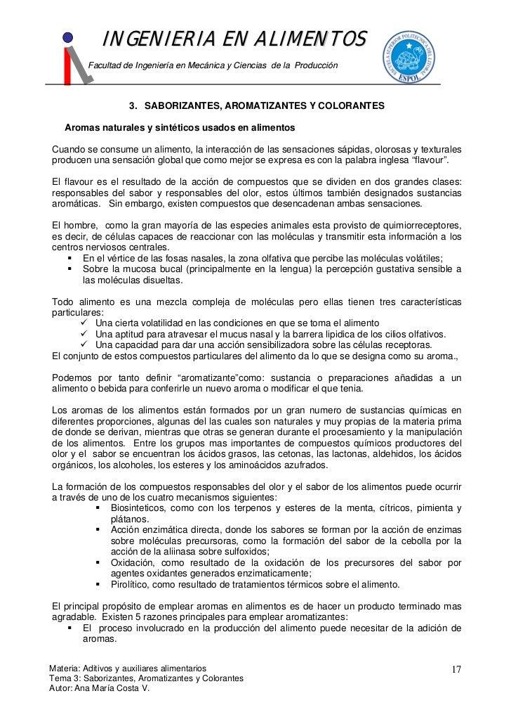 INGENIERIA EN ALIMENTOS          Facultad de Ingeniería en Mecánica y Ciencias de la Producción                       3. S...