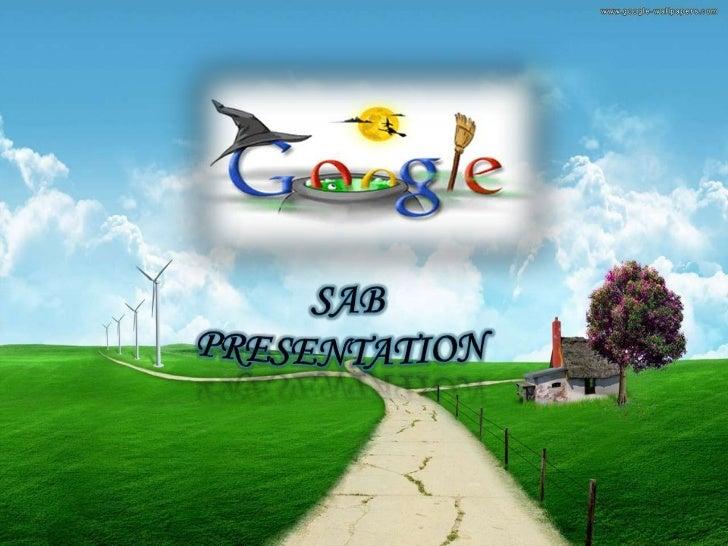 Sab prezentaton on Google