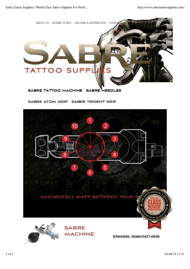 sabre machine DESIGNED, MANUFACTURED SABRE TATTOO MACHINESABRE TATTOO MACHINE SABRE NEEDLESSABRE NEEDLES SABRE ATOM GRIPSA...