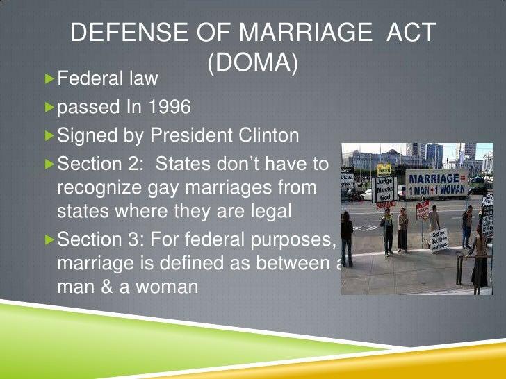 Sabrina Winston  Samesex Marriage Thesis Presentation Section Policy Analysis