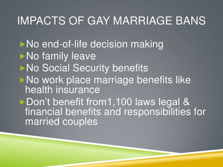 Legal benefits of same sex marriage