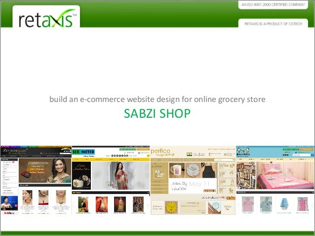 Build an ecommerce website design for online grocery store for Design store online