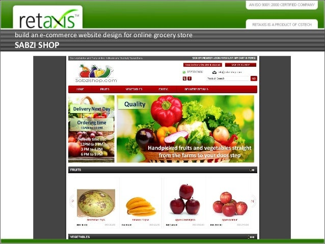 Build an Ecommerce Website Design for Online Grocery Store