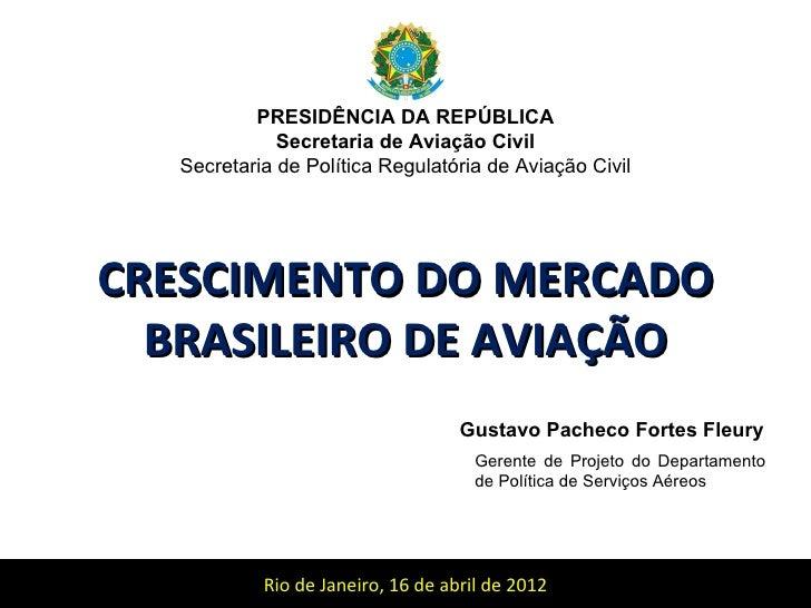 PRESIDÊNCIA DA REPÚBLICA              Secretaria de Aviação Civil   Secretaria de Política Regulatória de Aviação CivilCRE...