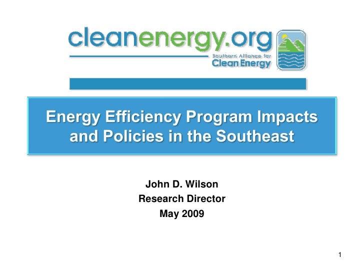 John D. Wilson Research Director    May 2009                       1