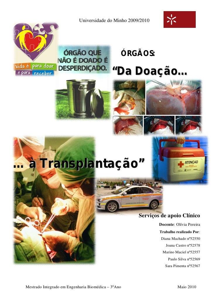 Universidade do Minho 2009/2010                                                       ÓRGÃOS:                             ...