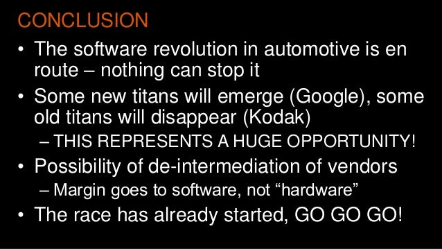 Software is eating the world - The Automotive Industry