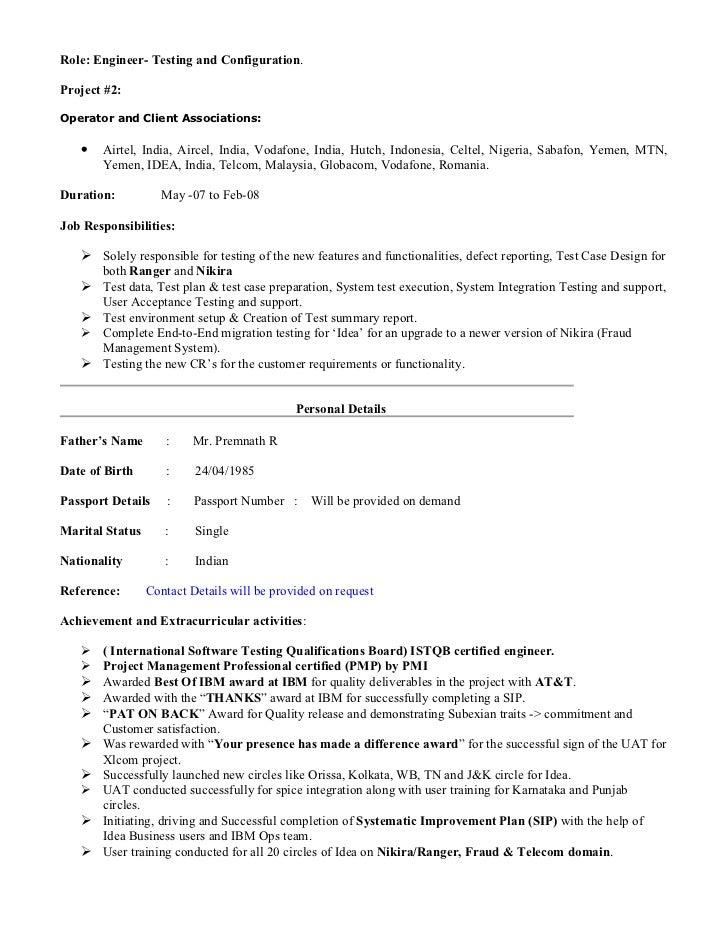 Telecom Business Analyst Resumes. Sachin 5 Yrs Telecom Ba Pmp Resume .