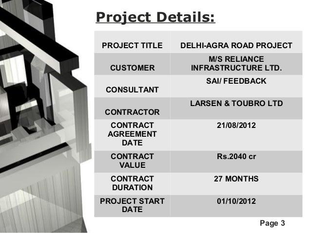 Delhi Agra Road Project