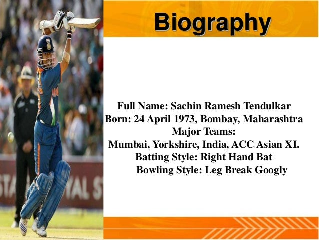 My role model sachin tendulkar essay