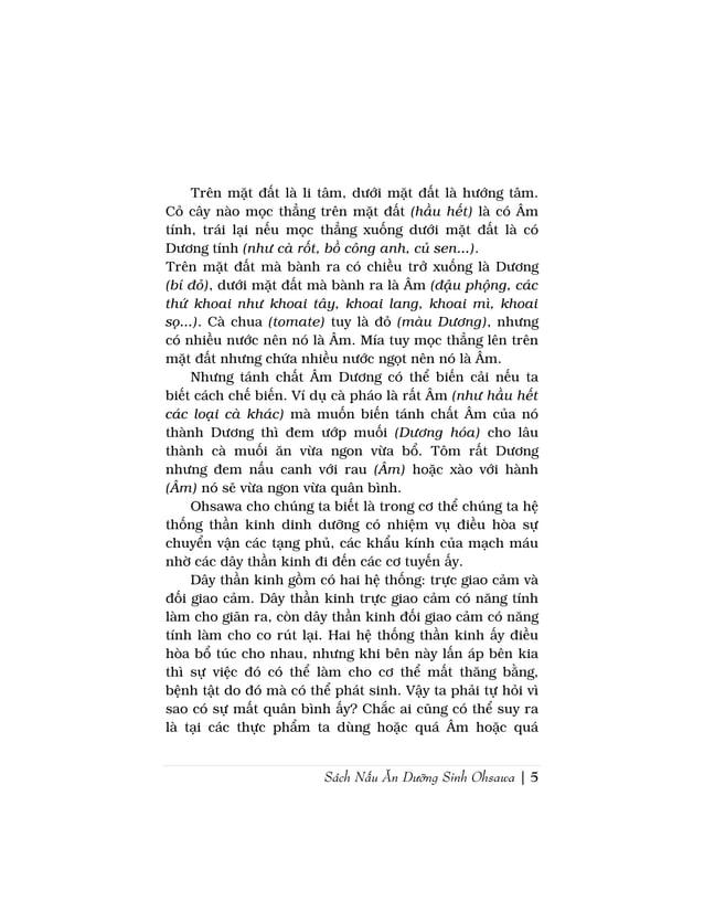 Sách Nấu Ăn Dưỡng Sinh Ohsawa | 5Trên mặt đất là li tâm, dưới mặt đất là hướng tâm.Cỏ cây nào mọc thẳng trên mặt đất (hầu ...