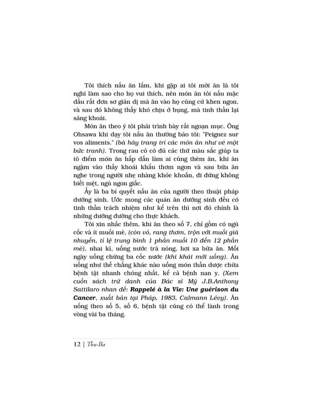 12 | Thu-BaTôi thích nấu ăn lắm, khi gặp ai tôi mời ăn là tôinghĩ làm sao cho họ vui thích, nên món ăn tôi nấu mặcdầu rất ...