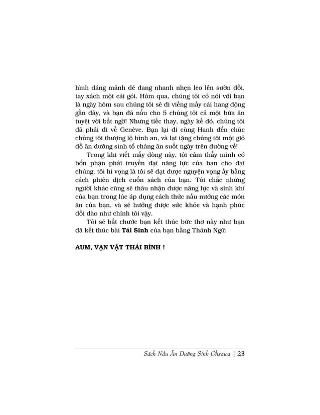 Sách Nấu Ăn Dưỡng Sinh Ohsawa | 25Vì tôi đã dạo chơi ven khắp các lối đi trong rừmg xanhvà bờ biển.Tôi đã cắt cành sồi rừn...