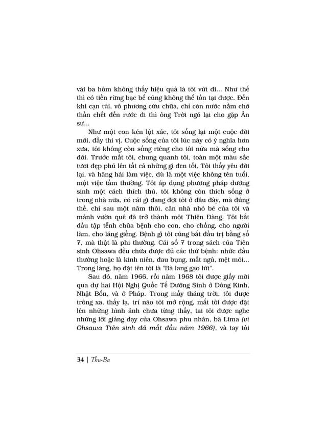 Sách Nấu Ăn Dưỡng Sinh Ohsawa | 37Tôi trả lời ngay :- Bác biết tại sao cháu đau.Câu chuyện xoay qua khía cạnh khác. Trước ...