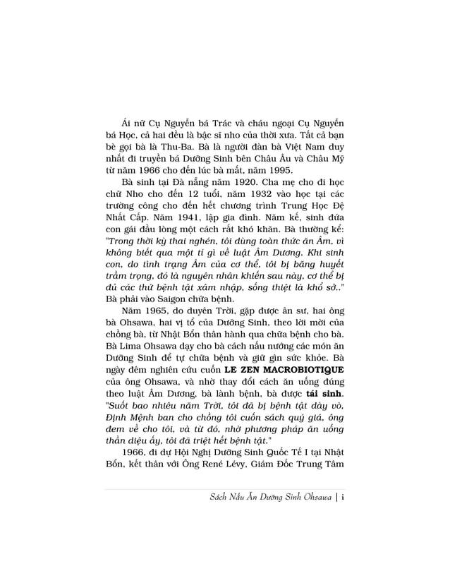 Sách Nấu Ăn Dưỡng Sinh Ohsawa | iÁi nữ Cụ Nguyễn bá Trác và cháu ngoại Cụ Nguyễnbá Học, cả hai đều là bậc sĩ nho của thời ...